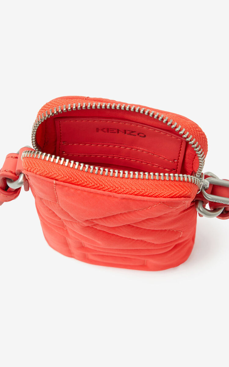 RED ORANGE Arctic phone pouch with strap for women KENZO