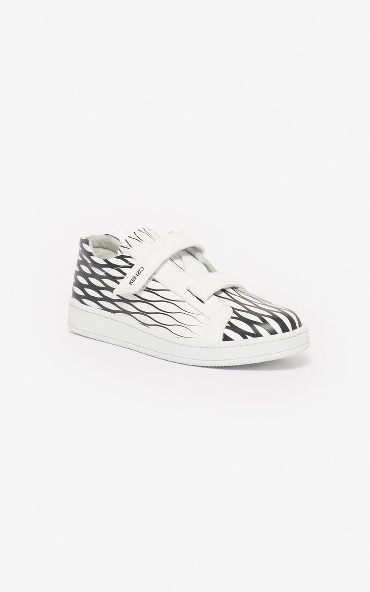 BLACK 'Fishnet' Tennix sneakers for unisex KENZO