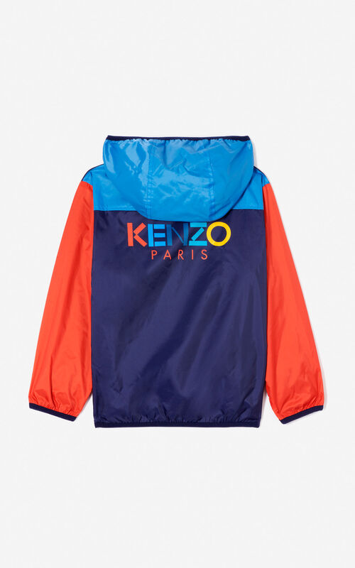 NAVY BLUE 'Frozen' windcheater for women KENZO