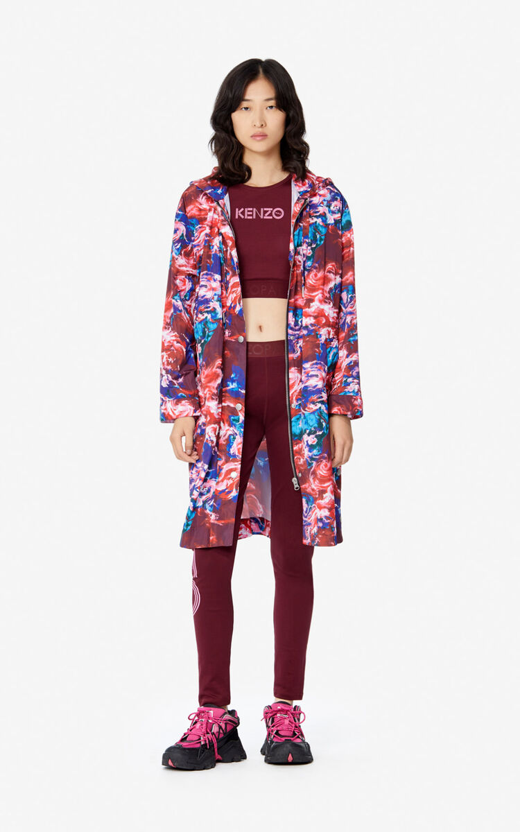 MEDIUM RED Long 'KENZO World' parka jacket for women