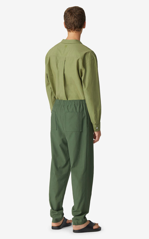 DARK KHAKI K joggers for men KENZO