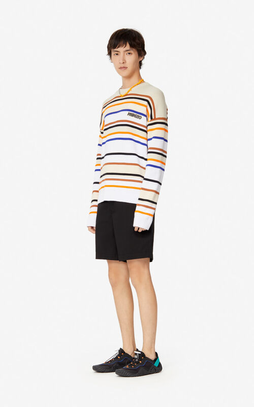 ECRU Striped colour-block jumper for men KENZO