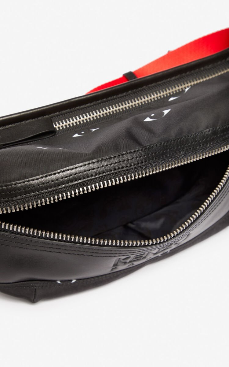 BLACK Multi Eye belt bag for unisex KENZO