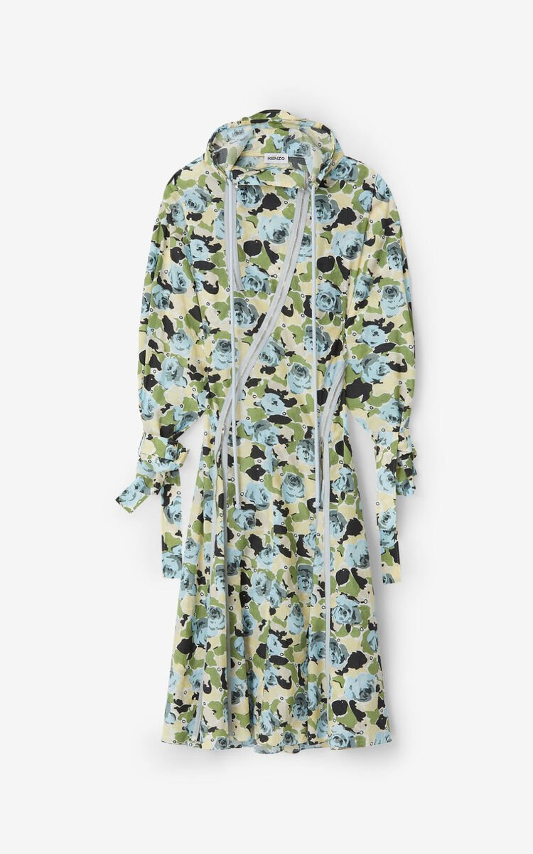IVORY Rose Camo' flared dress for women KENZO