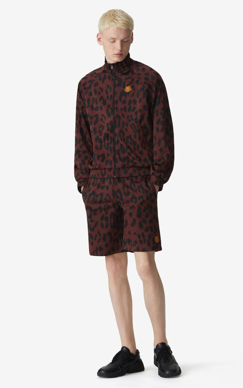 BORDEAUX 'Leopard' jacquard jacket for men KENZO