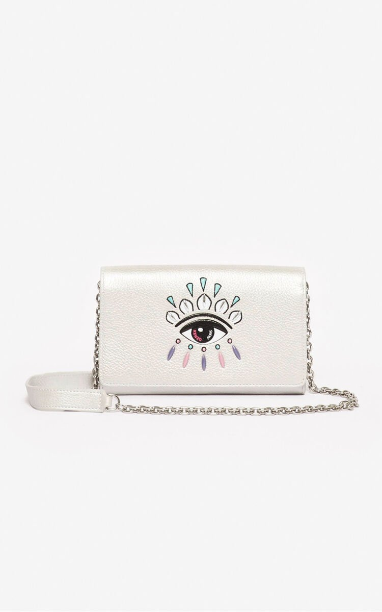 SILVER Kontact wallet on chain for unisex KENZO