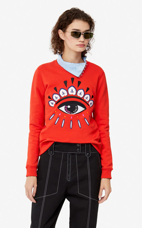 MEDIUM RED Eye Sweatshirt for women KENZO