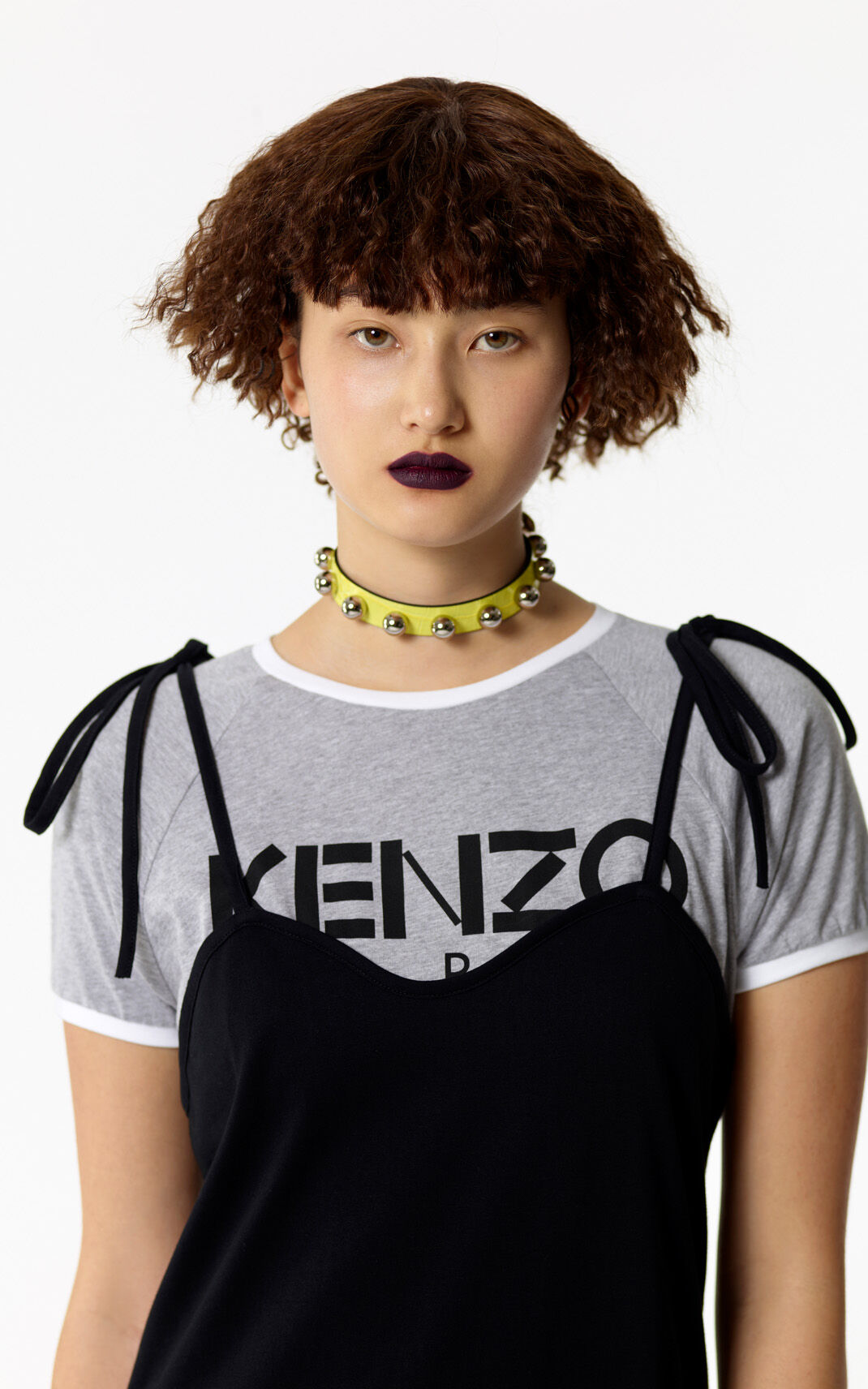 BLACK 2-in-1 T-shirt Dress for women KENZO