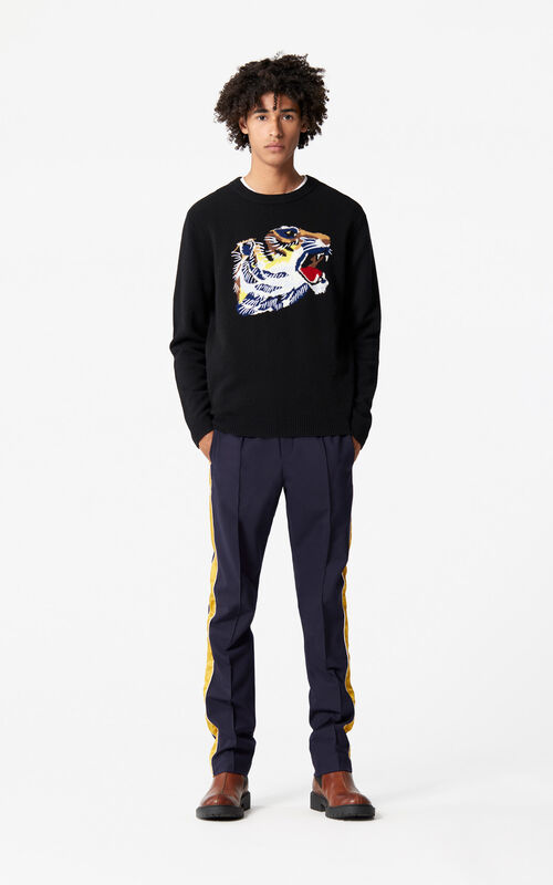 BLACK 'Tiger Head' jumper 'Go Tigers Capsule' for women KENZO