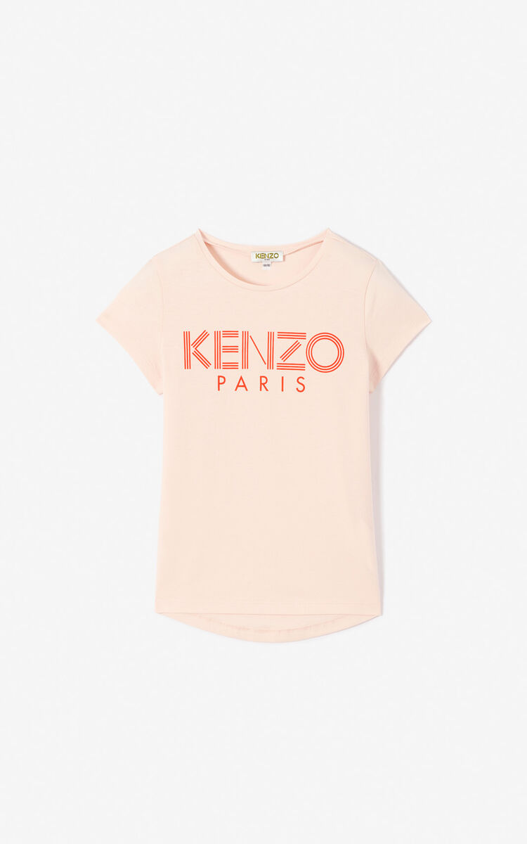 FADED PINK KENZO logo T-shirt for men