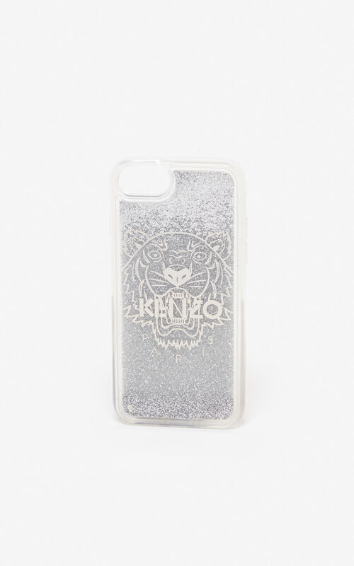 SILVER iPhone 8 Tiger case for unisex KENZO