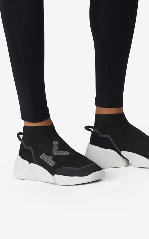 BLACK K-Sock K Logo laceless sneakers for women KENZO