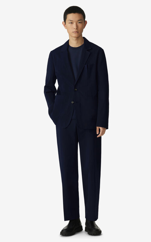 NAVY BLUE Buttoned jacket for men KENZO