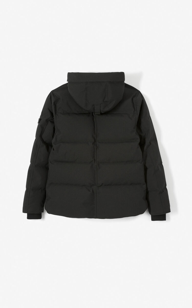 BLACK Quilted puffer jacket for men KENZO