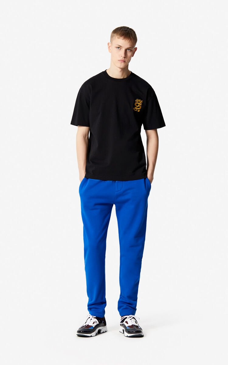FRENCH BLUE Dual-fabric joggers for men KENZO