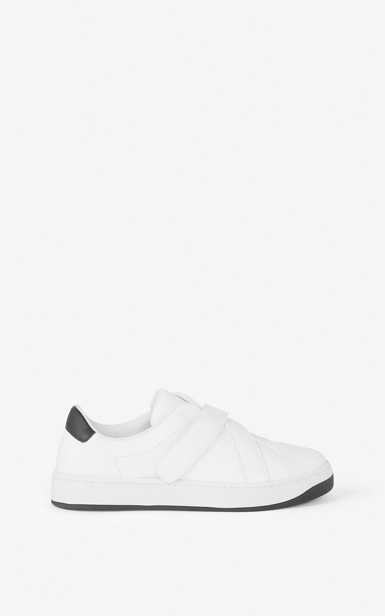 WHITE KENZO Kourt leather sneakers for women