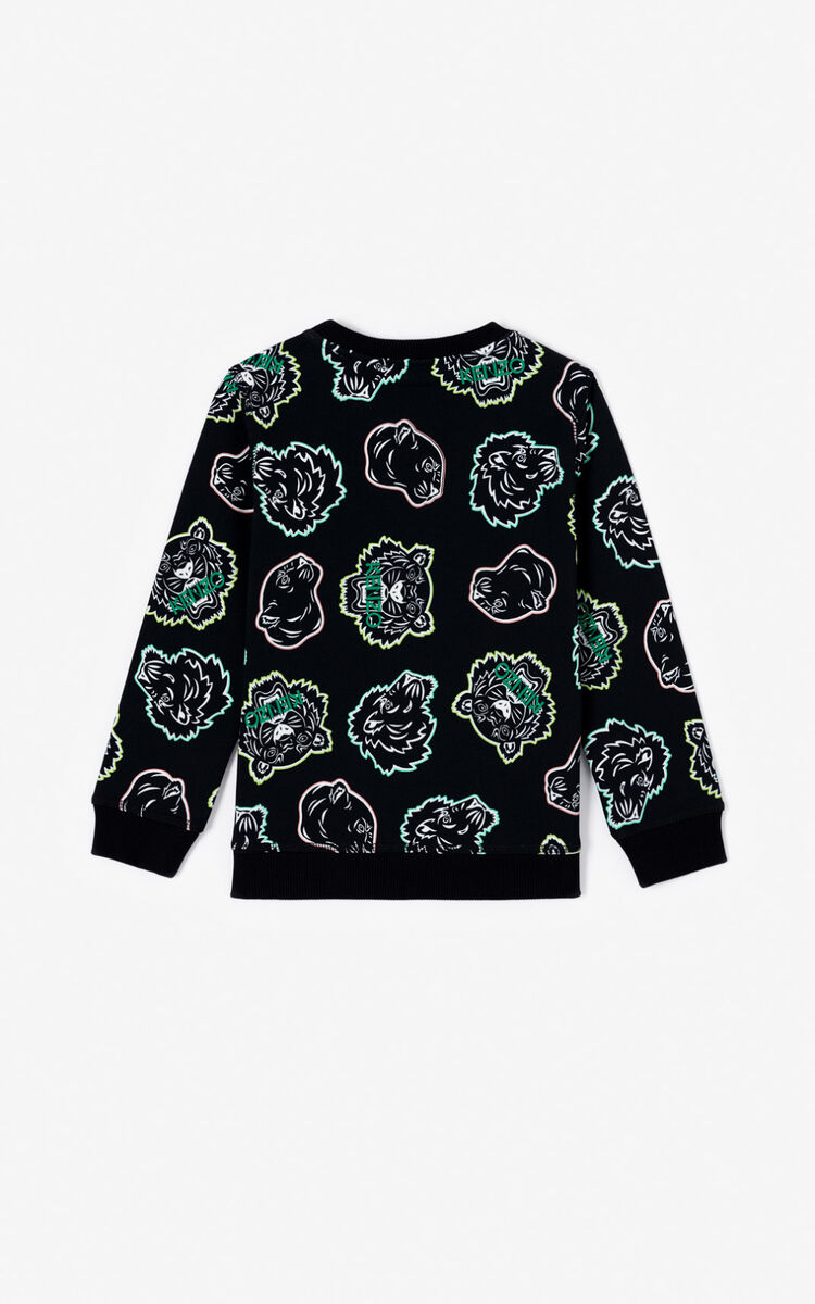 BLACK Multi Icon Sweatshirt  for men KENZO