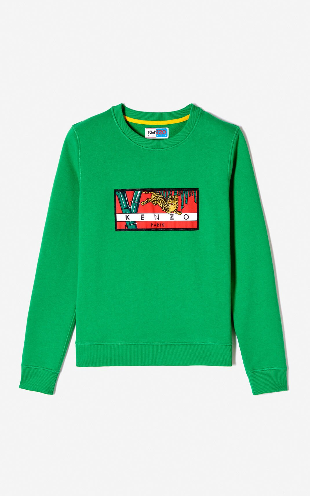 GRASS GREEN 'Bamboo Tiger' sweatshirt for women KENZO
