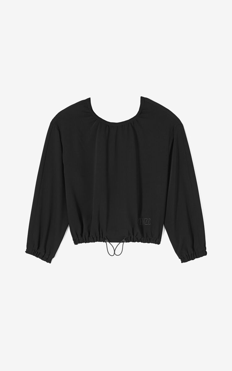 BLACK Cropped top for women KENZO
