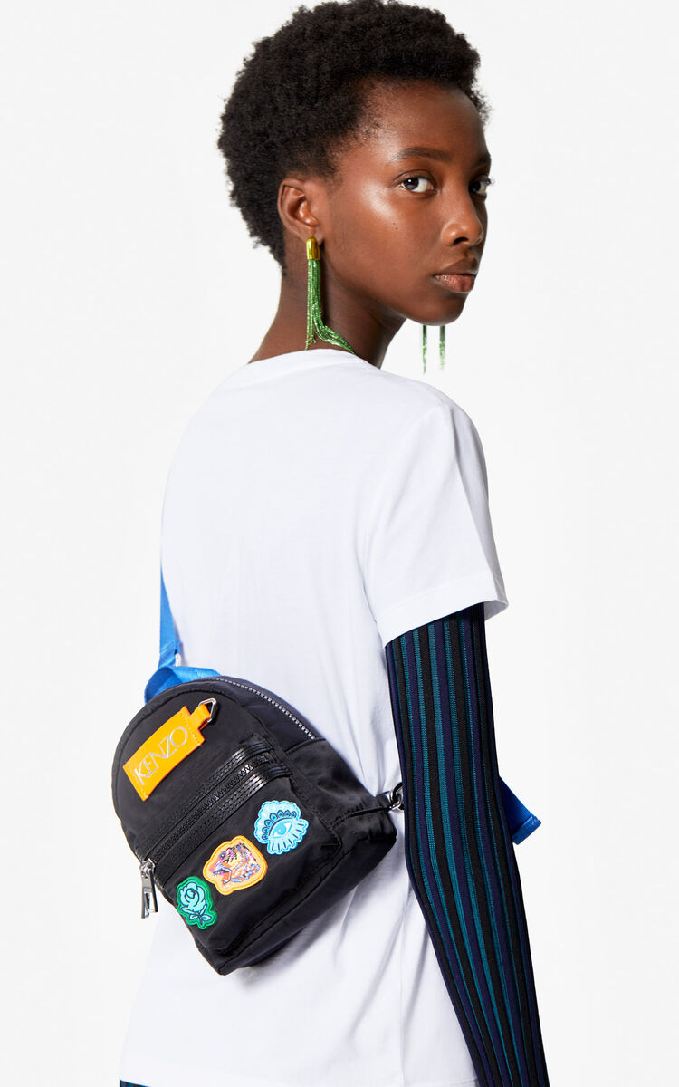 BLACK Mini multi-icon backpack 'Go Tigers Capsule' for unisex KENZO