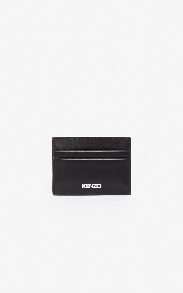BLACK Kontact Eye card holder for men KENZO