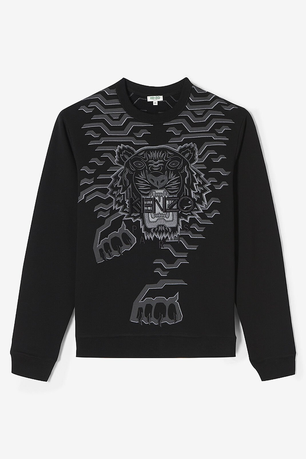 BLACK Geo Tiger Sweatshirt for men KENZO