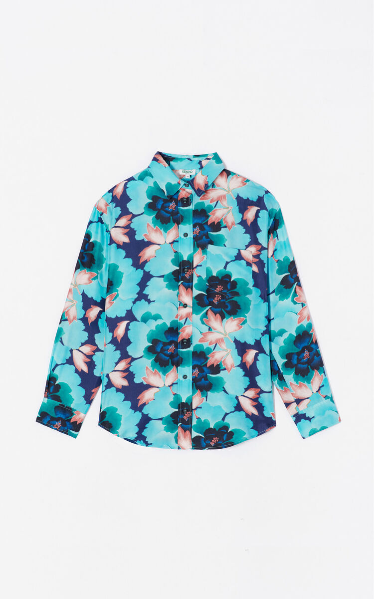 286103c5 Indonesian Flower' silk shirt for OUTLET Kenzo | Kenzo.com