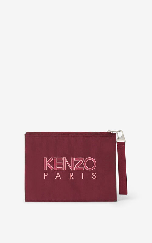CARMINE Kampus Tiger large canvas clutch for women KENZO