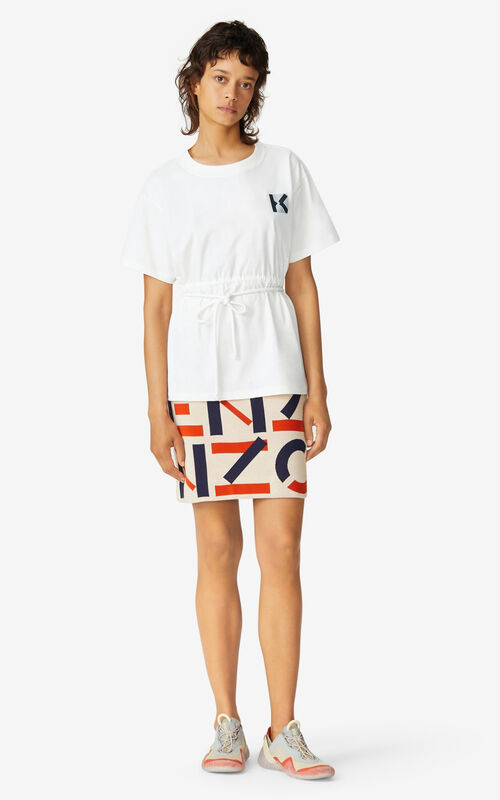 WHITE KENZO Sport 'Blocked 'K' t-shirt    for women