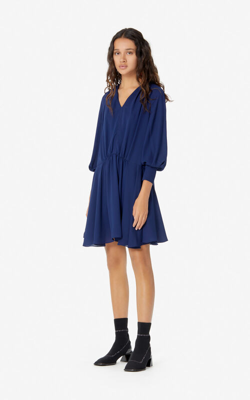 MIDNIGHT BLUE Pleated dress for women KENZO