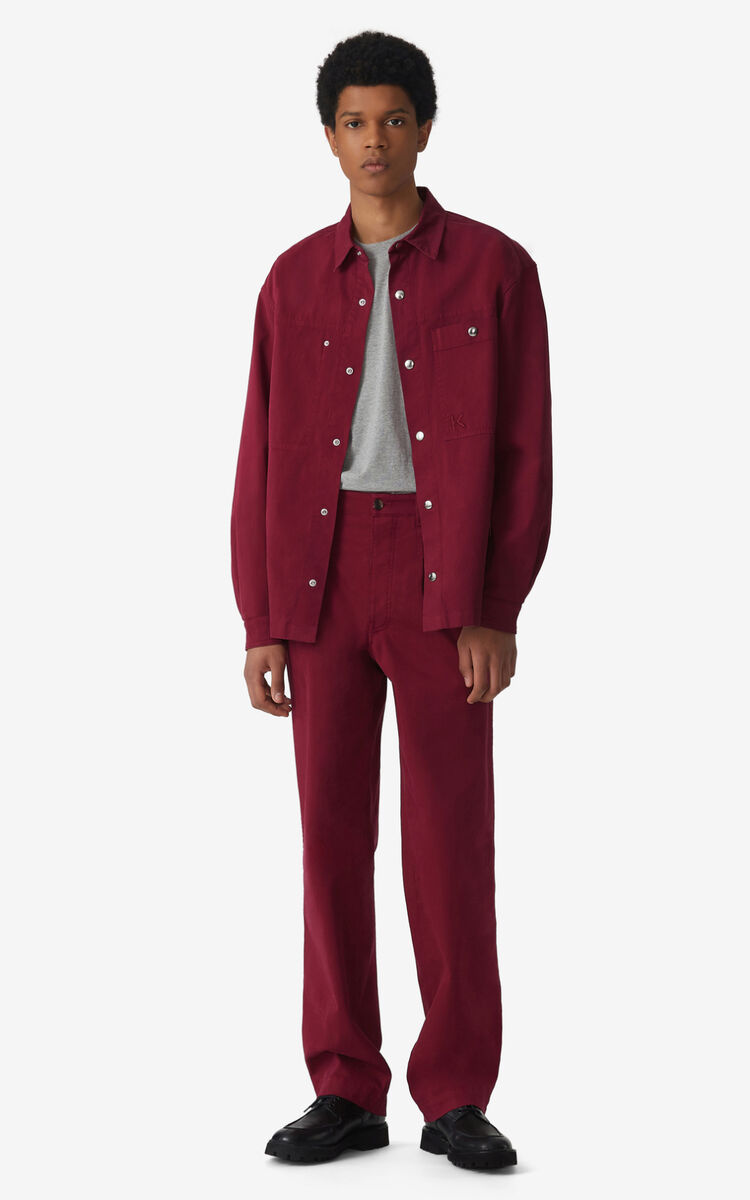 CARMINE Overshirt with press studs for men KENZO