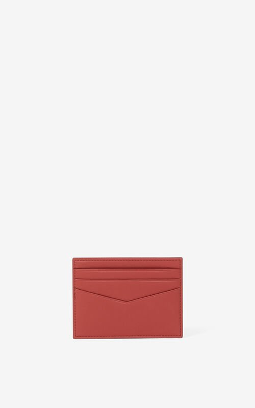 MOROCCAN BROWN KENZO K leather card holder for unisex