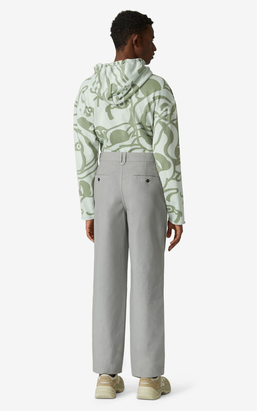 MISTY GREY Chino trousers for men KENZO