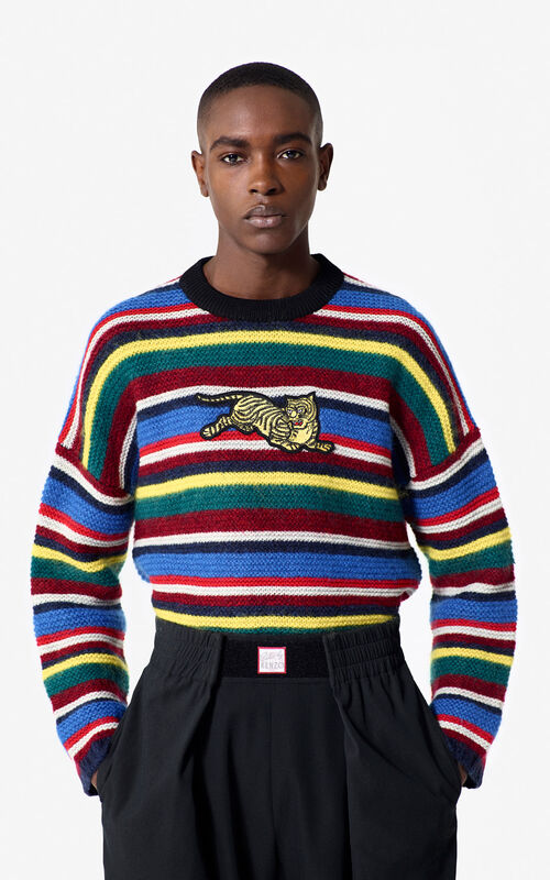 MULTICOLOR 'Jumping Tiger' striped jumper for women KENZO