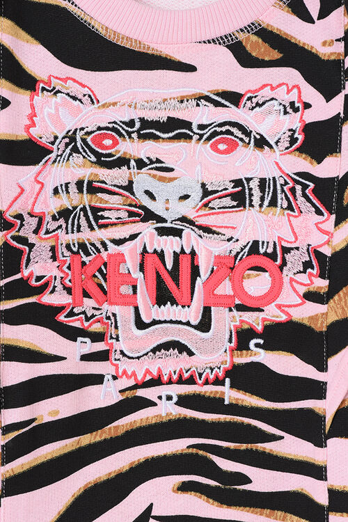 Tiger Stripes Dress , FADED PINK, KENZO