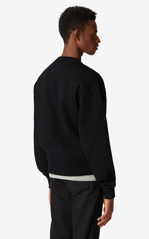 BLACK K-Tiger sweatshirt for men KENZO