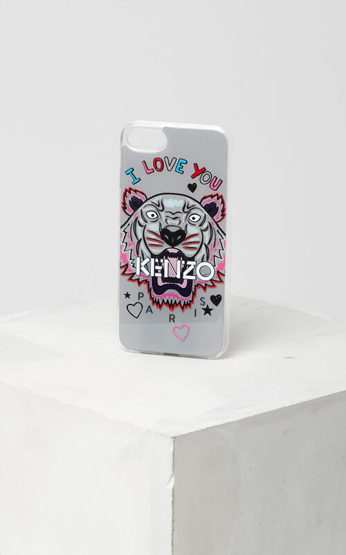 I Love You iPhone Case 7+, PALE GREY, KENZO