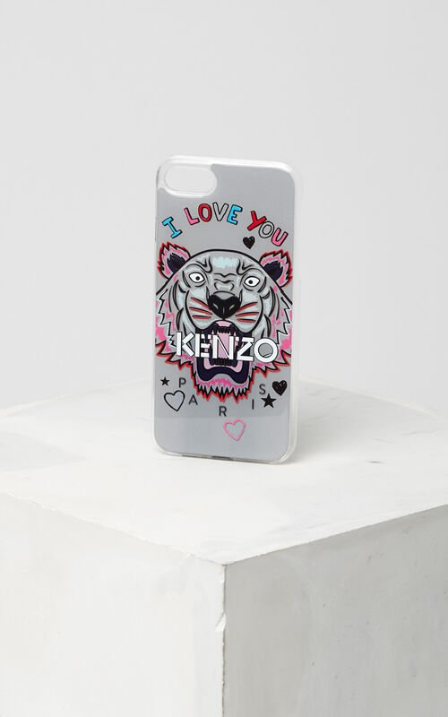 I Love You iPhone Case 7, PALE GREY, KENZO