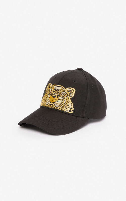 BLACK Canvas Tiger cap 'Exclusive Capsule' for unisex KENZO