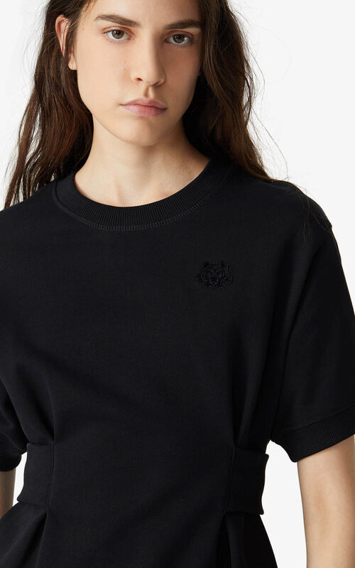 BLACK Tiger Crest fitted sweatshirt for women KENZO