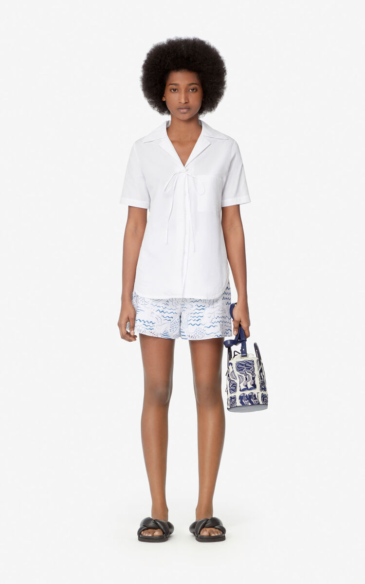 WHITE Chemise à nouer for women KENZO