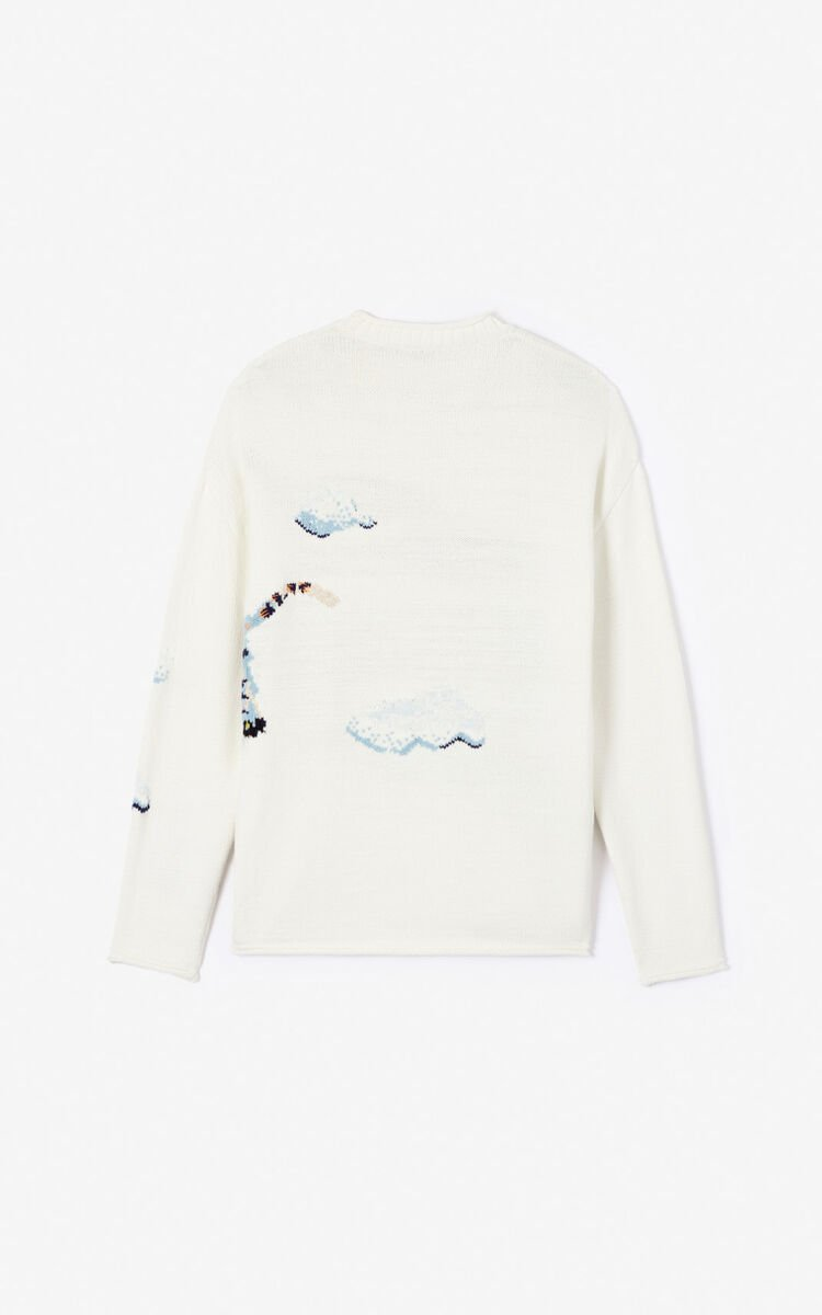 ECRU 'Cloud Tigers' jumper for men KENZO