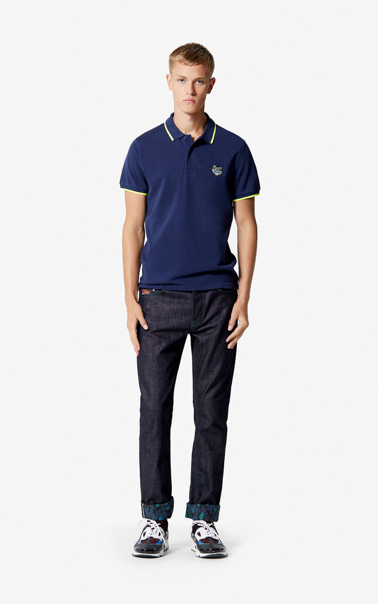 INK Slim fit Tiger polo shirt for men KENZO