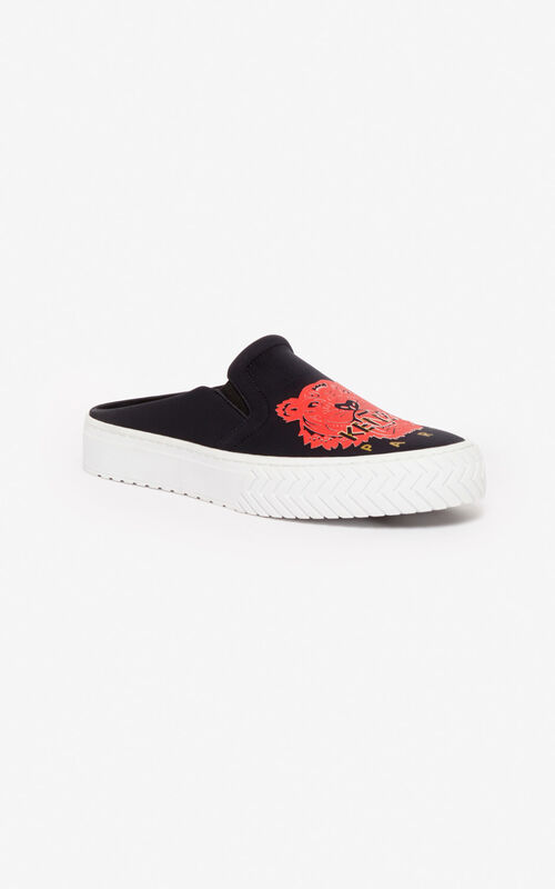 BLACK 'Chinese New Year Capsule' K-skate slip-on mules for unisex KENZO