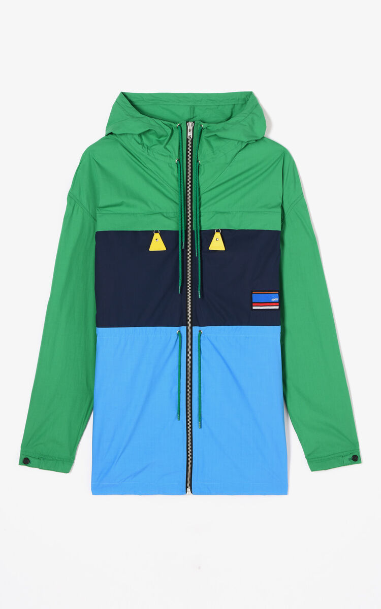 GRASS GREEN 'Hyper KENZO' Colourblock Parka for women