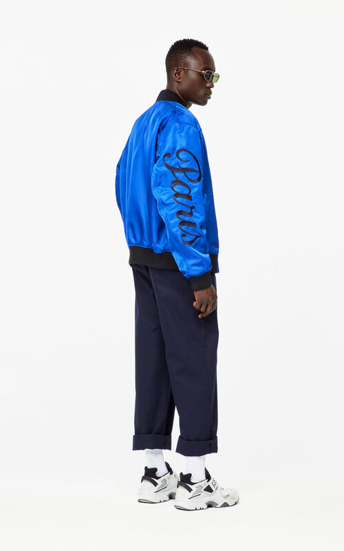 ELECTRIC BLUE 'Jumping Tiger' bomber jacket for men KENZO