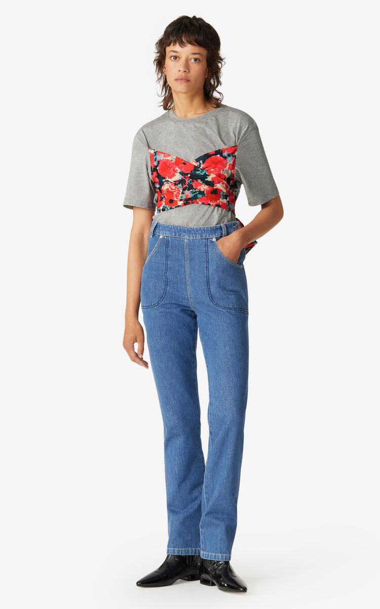 PEARL GREY 'Aquarelle' bustier T-shirt for unisex KENZO