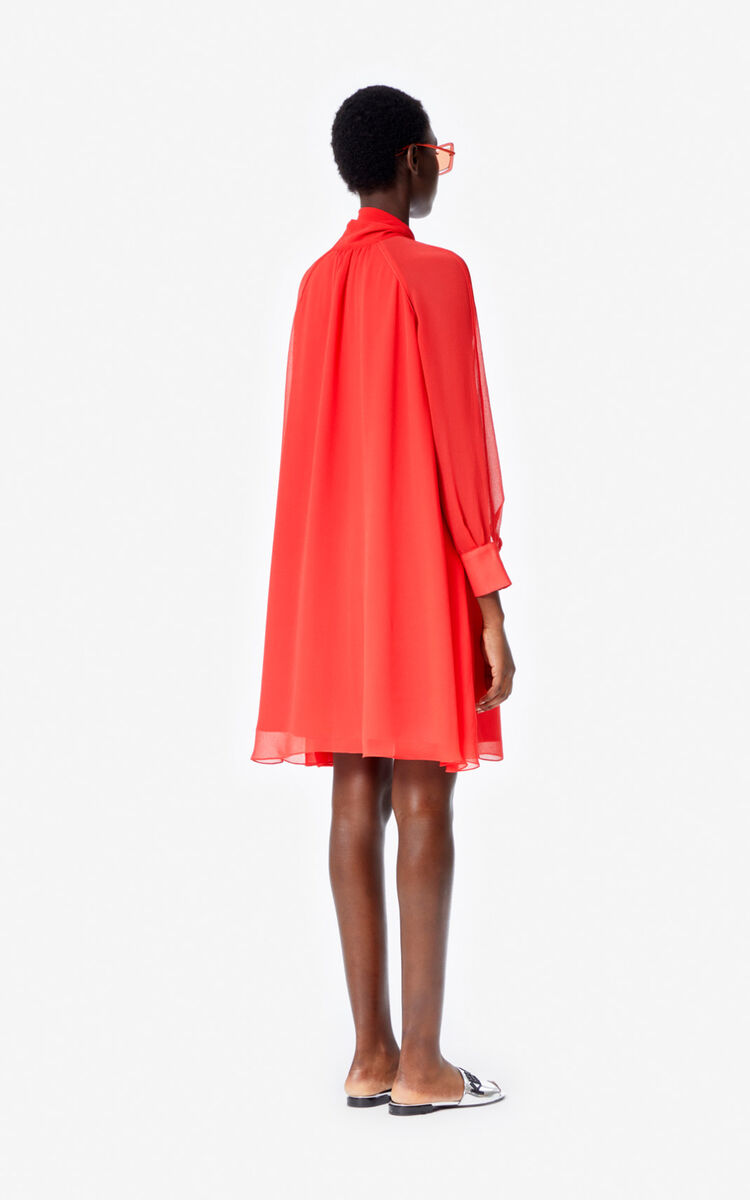 MEDIUM RED Flowing dress for women KENZO