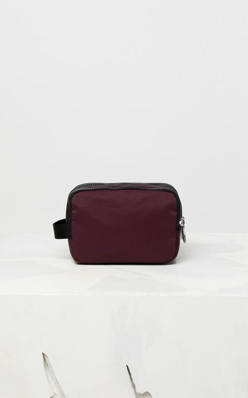BORDEAUX KENZO Logo travel bag for unisex