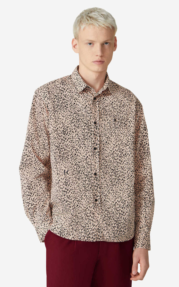 FADED PINK Leopard' casual shirt for women KENZO